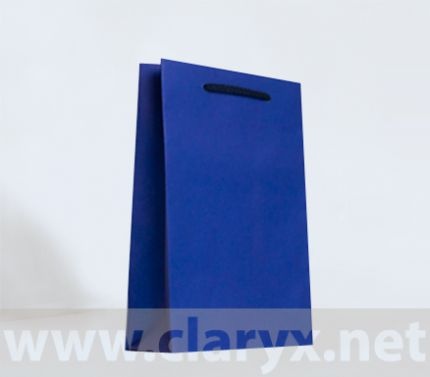 Paper Bags 16+7x25cm, B2/К, dark blue, 10pcs.