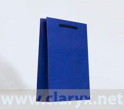 Хартиени торбички 16+7x25см, В2/К, тъмно сини, 10бр.