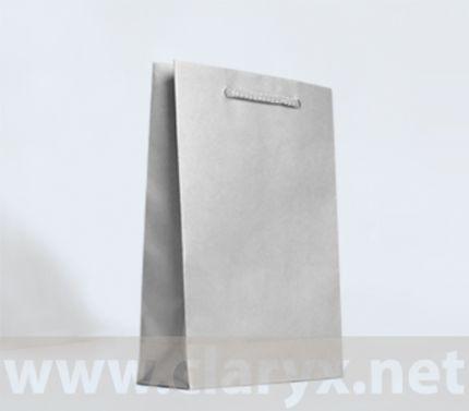 Хартиени торбички 16+7x25см, В2/Л, сребърни, 10бр.