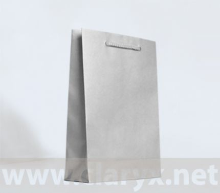 Paper Bags 16+7x25cm, B2/L, silver, 10pcs.