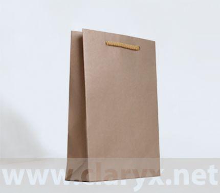 Хартиени торбички 16+7x25см, В2/К, златни, 10бр.