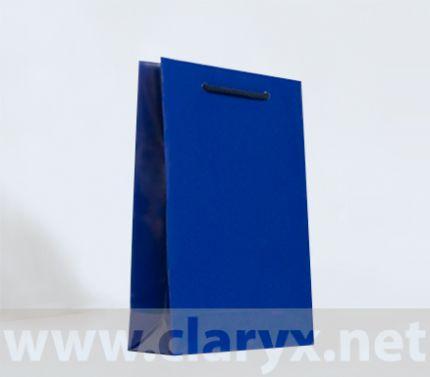 Paper Bags 16+7x25cm, B2/L, dark blue, 10pcs.