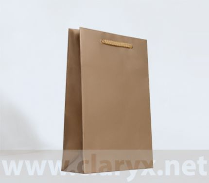 Хартиени торбички 16+7x25см, В2/Л, златни, 10бр.