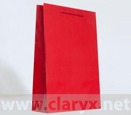 Хартиени торбички 24+9x36см, В3/Л, червени, 10бр.