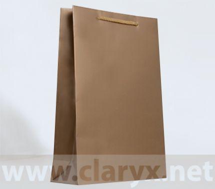 Хартиени торбички 24+9x36см, В3/Л, златни, 10бр.
