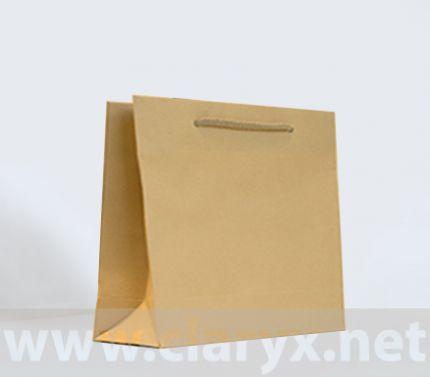 хартиена торба 24+9х23, кафяв крафт
