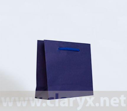 Крафт хартиени торби 16+7x15см, тъмно сини, 10бр.