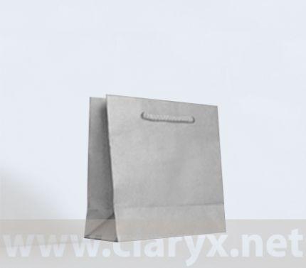 Крафт хартиени торби 16+7x15см, сребърни, 10бр.