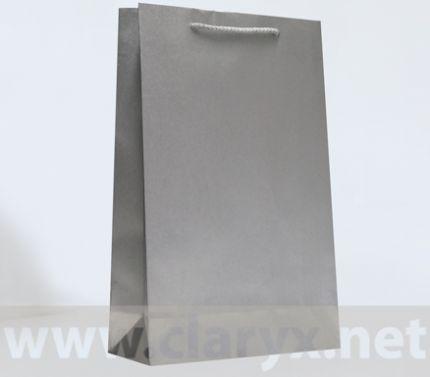 Хартиени торбички 24+9x36см, В3/К, сребърни, 10бр.