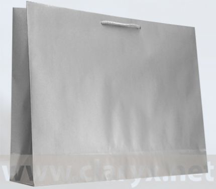Хартиени торбички 53+12x36см, В5/К, сребърни, 10бр.