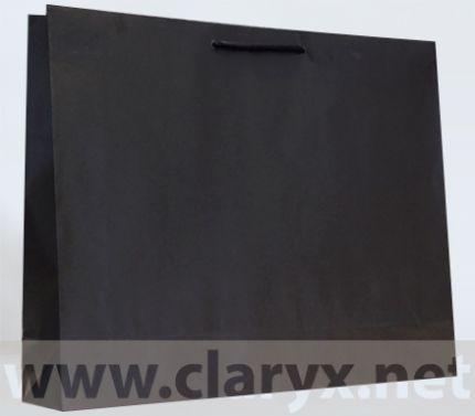 Хартиени торби 53+12x36см, В5/К, сребърни, 10бр.