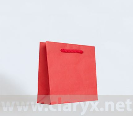 Kraft Paper Bags 16+7x15cm, red color, 10pcs.