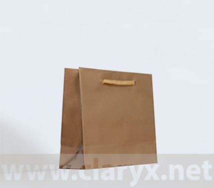 Laminated Paper Bags 16+7x15cm, gold, 10pcs.
