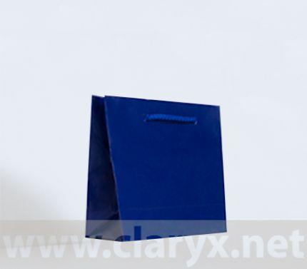 Paper Bags 16+7x15cm, B1/L, dark blue, 10pcs.