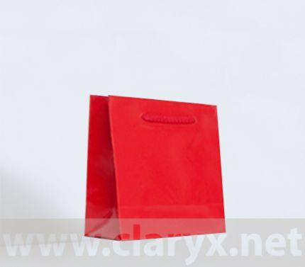 Paper Bags 16+7x15cm, B1/L, red, 10pcs.