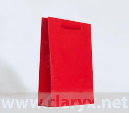 Хартиени торбички 16+7x25см, В2/Л, червени, 10бр.