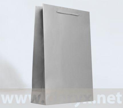 Хартиени торбички 24+9x36см, В3/Л, сребро, 10бр.