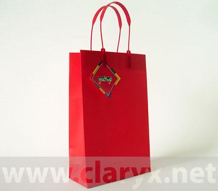 Paper Bags 16+7x25cm, B2/К, red, 10pcs.