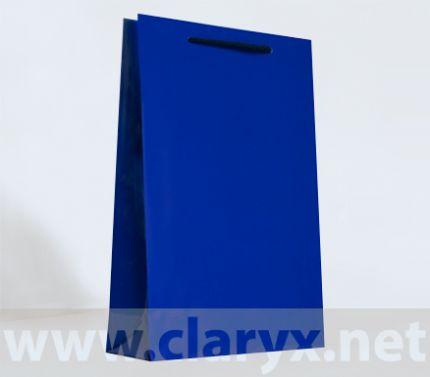 Paper Bags 24+9x36cm, B3/L, dark blue, 10pcs.