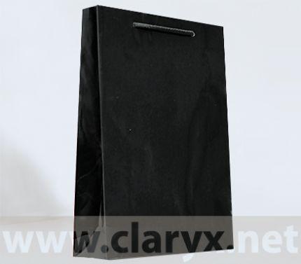 Хартиени торбички 24+9x36см, В3/Л, черни, 10бр.
