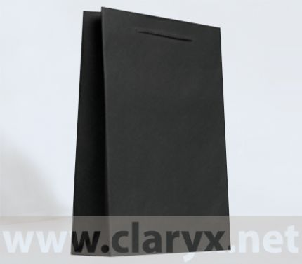 Хартиени торбички 24+9x36см, В3/К, черни, 10бр.