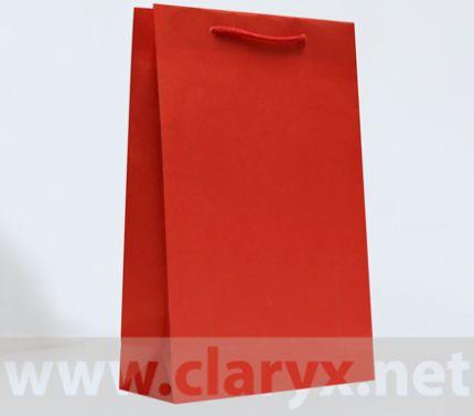 Хартиени торбички 24+9x36см, В3/К, червени, 10бр.