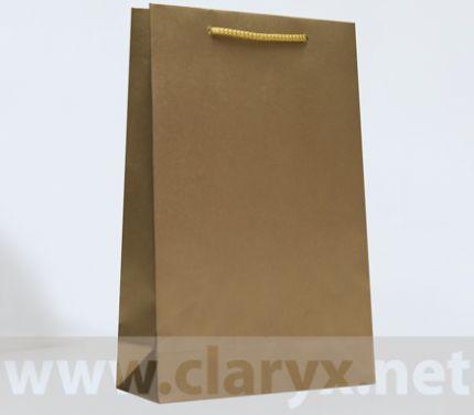 Хартиени торбички 24+9x36см, В3/К, златни, 10бр.