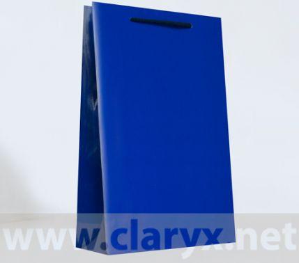 Хартиени торбички 24+9x36см, В3/К, тъмно сини, 10бр.