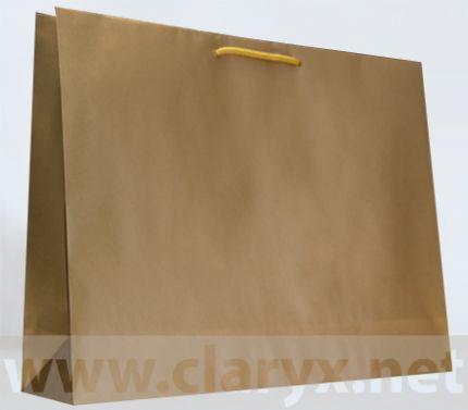 Хартиени торбички 53+12x36см, В5/К, златни, 10бр.